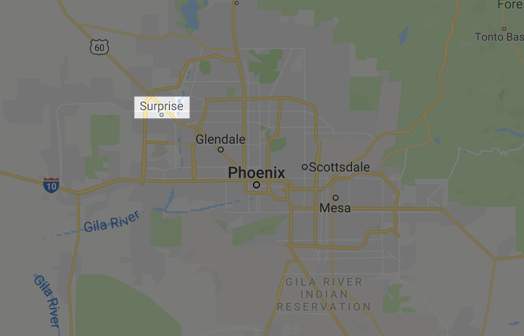 Location of Surprise AZ
