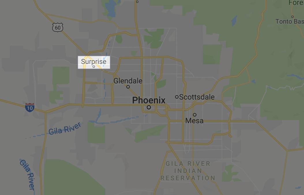 Location of Surprise AZ